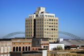 Hernando de Soto Bridge seen from downtown — Stock Photo