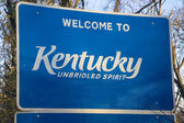 Welcome to Kentucky — Stockfoto