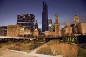 Pradera en el centro de chicago — Foto de Stock
