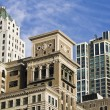 Architecture along South Michigan Avenue - Foto Stock