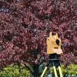 Surveying during colorful fall — Stock Photo #3595480