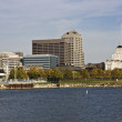 Milwaukee from Lake Michigan — Stock Photo