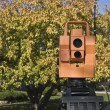 Surveying during colorful fall — Stock Photo #3596052