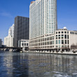 Frozen Chicago River — Stockfoto #3596235