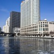 Frozen Chicago River — Stock Photo