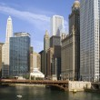 Downtown around Chicago River — Foto Stock