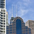 Office and condo buildings in Chicago - Stock Photo