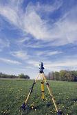 Surveying during spring time — Stock Photo
