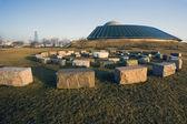 Stones in front of the Planetarium — Stock fotografie