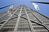 Chicago en illinois vlaggen — Stockfoto
