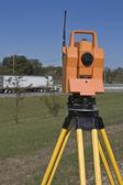 Surveying highway — Stock Photo