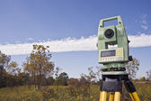 Fall time surveying — Stock Photo