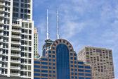 Biura i mieszkania budynków w chicago — Zdjęcie stockowe