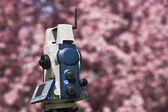 Spring Land Surveying — Stock Photo