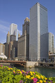 Chicago accross the river — Foto Stock