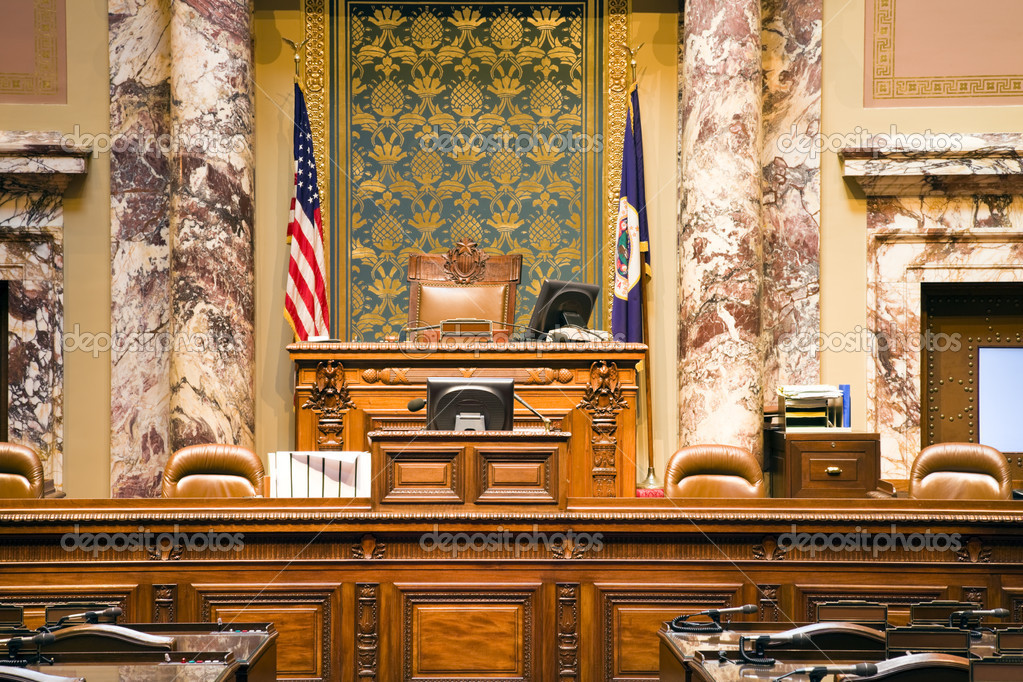 Senate of Minnesota  in State Capitol of Minnesota in St. Paul. — Stock Photo #3593364