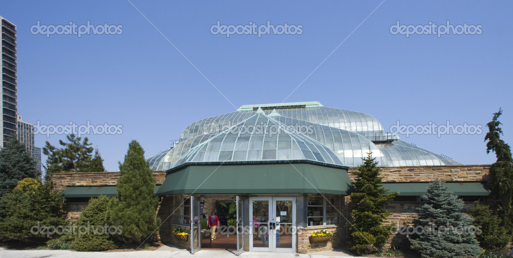 Lincoln Park Conservatory in Chicago, Illinois.  Stock Photo #3596702