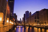 Morning by Chicago River — Stock Photo