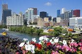 Chicago od roosevelt avenue — Zdjęcie stockowe