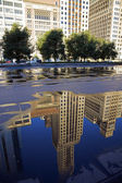 Reflection of Michigan Avenue buildings — Stock Photo