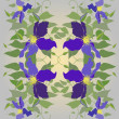 Decorative seamless floral pattern. — Stock Vector
