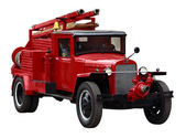 Red fire vehicle — Stock Photo