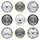 Clocks — Stok Vektör