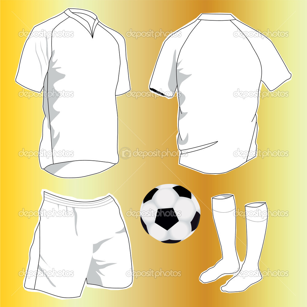 white sport uniform set — Stock Vector #3606809
