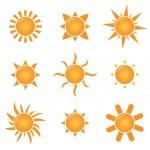 Suns — Stock Vector