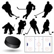 Stock Vector: Ice Hockey Players