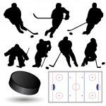 Ice Hockey Players — Stock Vector #3703567