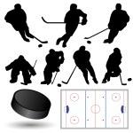 Ice Hockey Players — Stock Vector
