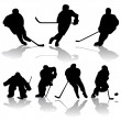 Ice Hockey Players — Stock Vector #3703624