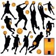 Basketball Players — Stock Vector