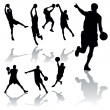 Basketball Players — Stock Vector #3703731