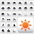 Weather Icons - Stock Vector