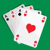 Jugar a las cartas — Vector de stock