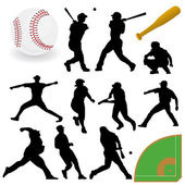 Baseball Players — Stock Vector
