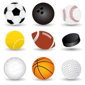 Sport palle — Vettoriale Stock