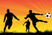 Игроки в футбол — Cтоковый вектор
