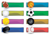 スポーツのバナー — ストックベクタ