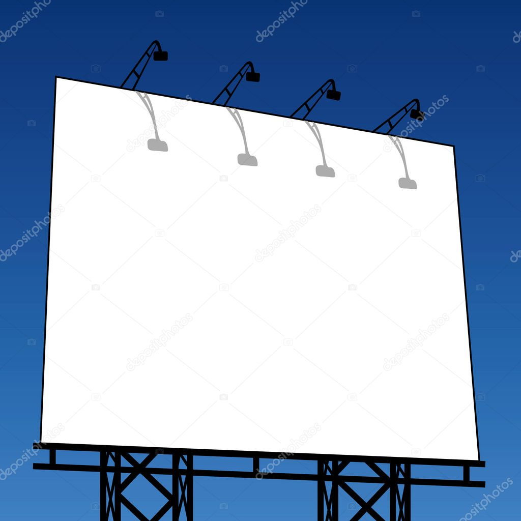 Vector illustration of an outdoor billboard  Stock Vector #3703508