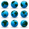 Royalty-Free Stock Vector Image: Glossy Globes