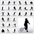 Sport Silhouettes - Stock Vector