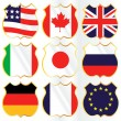 G8 Flags — Stock Vector