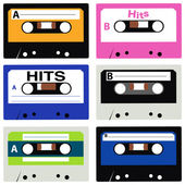 Cassette Collection — Stock Vector