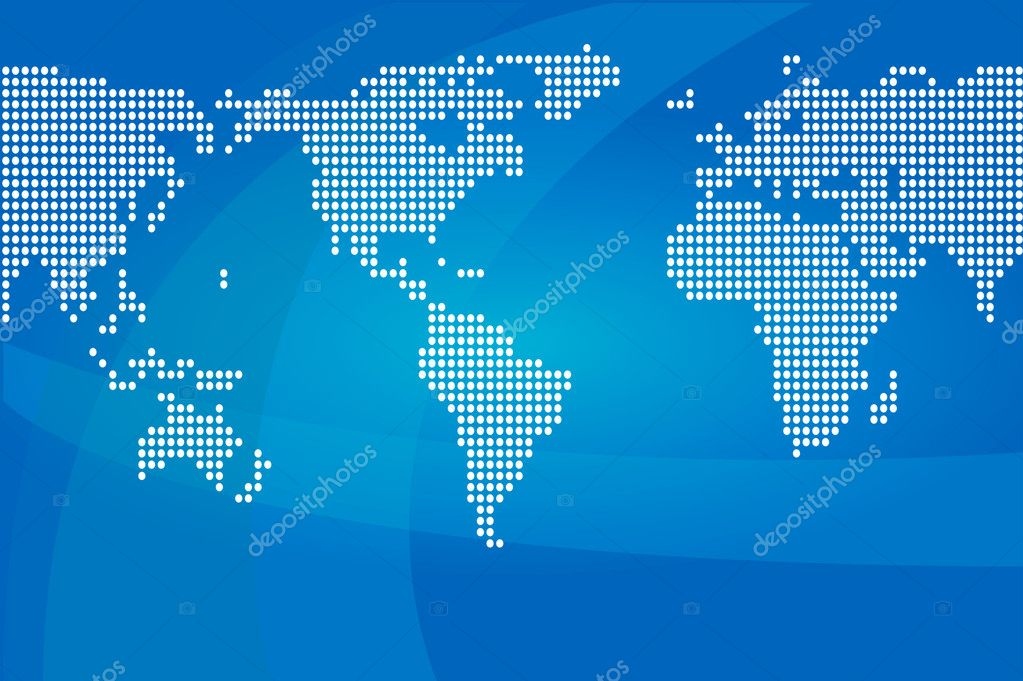 Vector world map   Stock Vector #3730344