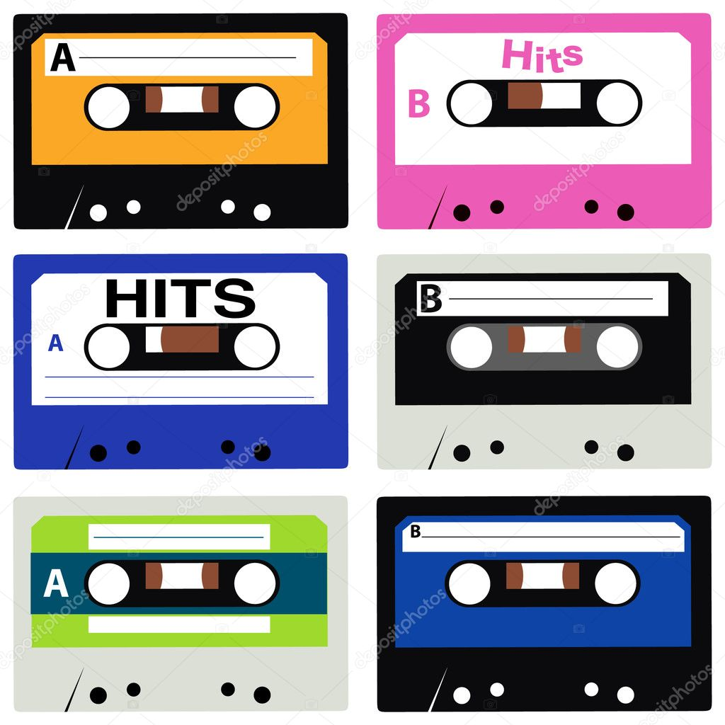 Vector cassette collection — Stock Vector #3730402