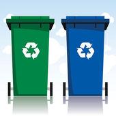 Contenedores de reciclaje — Vector de stock