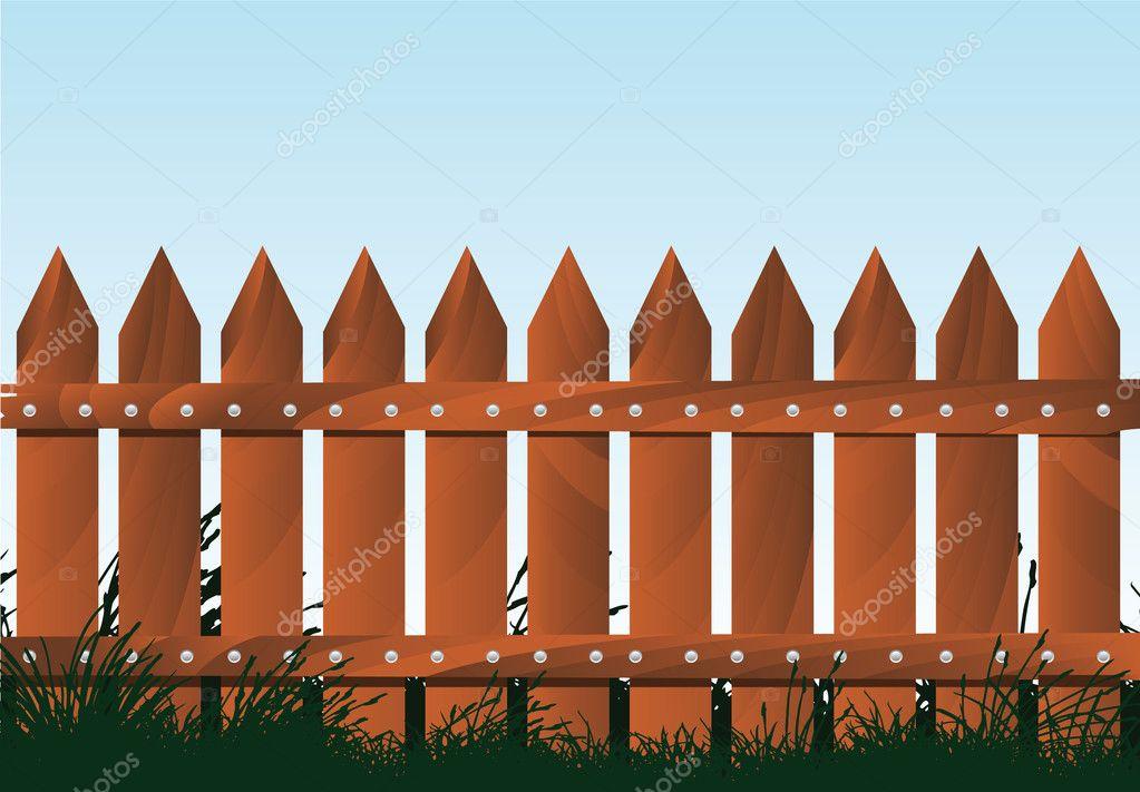 Wooden fence stock vector emirsimsek 3747659 - Cercas de madera ...